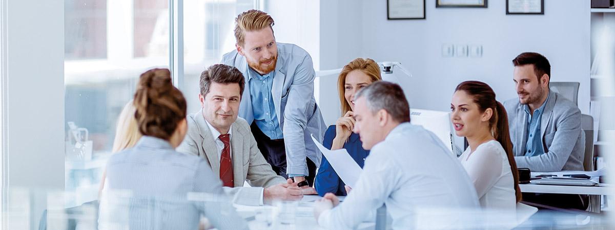 Business Besprechung am Tisch
