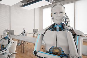 MFG - Roboter am Telefon klein